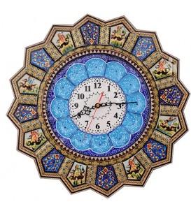ساعت خورشیدی 43 سانتی خاتم کاری با صفحه مینای قلی