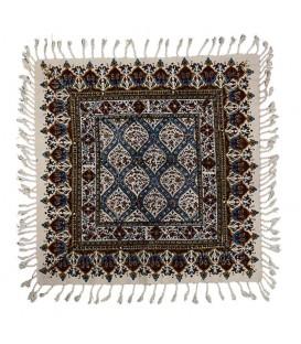رومیزی قلمکار مربعی 50 سانتی صادراتی طرح گنبد شیخ لطف الله
