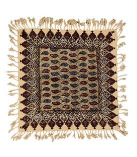 رومیزی قلمکار مربعی 40 سانتی صادراتی طرح بوته