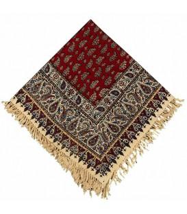 رومیزی صادراتی یک متری قلمکار طرح بوته زمینه قرمز