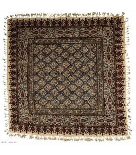 رومیزی مربعی یک متری قلمکار صادراتی طرح کاشی مسجد شیخ لطف الله