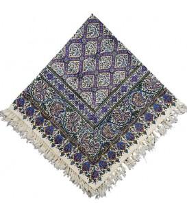 رومیزی صادراتی قلمکار یک متری طرح کاشی مسجد شیخ لطف الله زمینه بنفش
