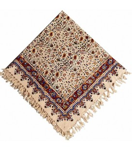 Ghalamkari tablecloth traditional 1 m almond design