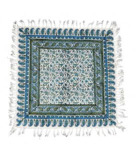 Ghalamkari tablecloth 60x60 flower and leaves design