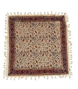 رومیزی قلمکار 60x60 طرح سنتی گل بادامی