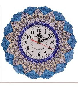 Minakari clock 30 cm arabesque