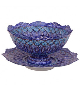 Minakari bowl and plate set 20 cm