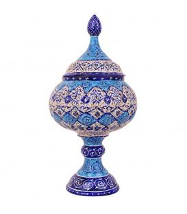 شکلات خوری سایز 22 میناکاری اصفهان طرح اسلیمی
