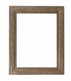 Khatamkari frame with triplet flowers 30x40 cm