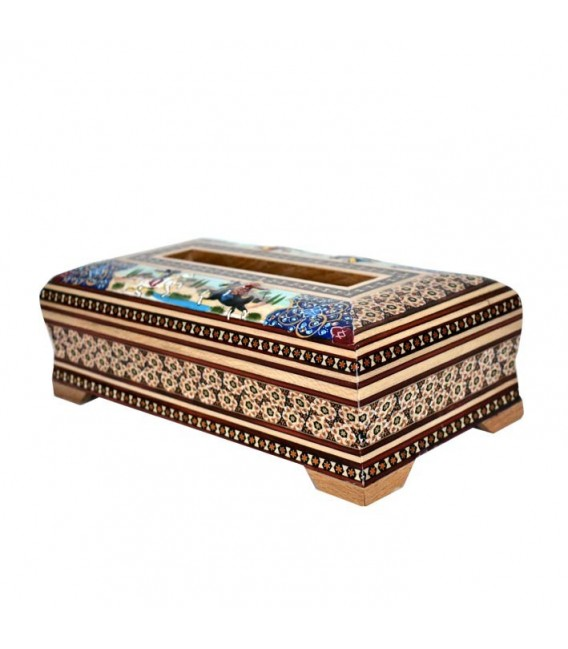 Khatamkari tissue box