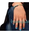 دستبند مهره دار آبی