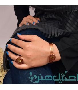 Resin copper bracelet and ring set