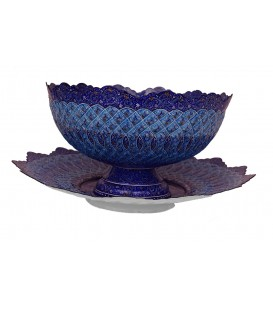 Minakari bowl and plate set Isfahan 30 cm