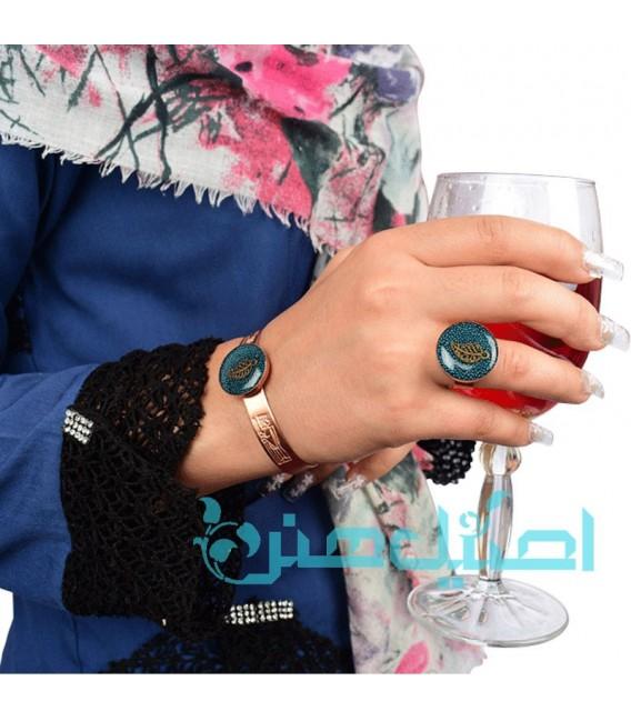 Resin bracelet and ring set