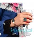 Resin bracelet and ring set leaves design