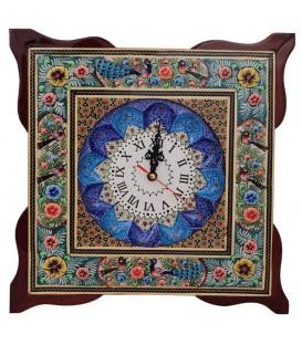 Khatamkari & Minakari clock 34 cm squar