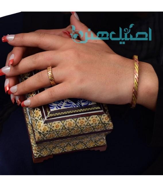 Copper bracelet and ring set