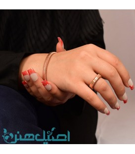 Isfahan copper ring and bracelet set