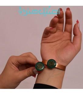 نیم ست انگشتر و دستبند رزینی طرح گل