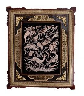 Ghalamzani frames 30x40 cm gazelle design
