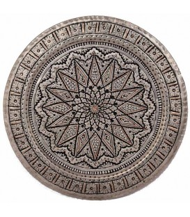 Ghalamzani copper tray 40 cm flower design