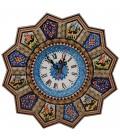 Khatamkari clock round 32 cm solar and hunting