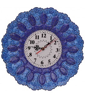 Minakari clock 35 cm arabesque