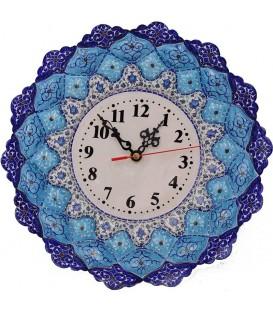 Minakari clock arabesque khatai 30 cm