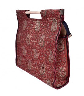 Termeh bag wooden hand with wad layer