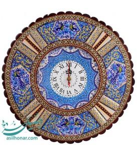 Khatamkari & minakari clock 37 cm
