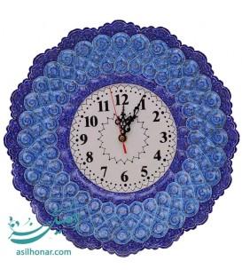 ساعت دیواری میناکاری اصفهان با قطر 35 سانتیمتر اثر استاد تاج