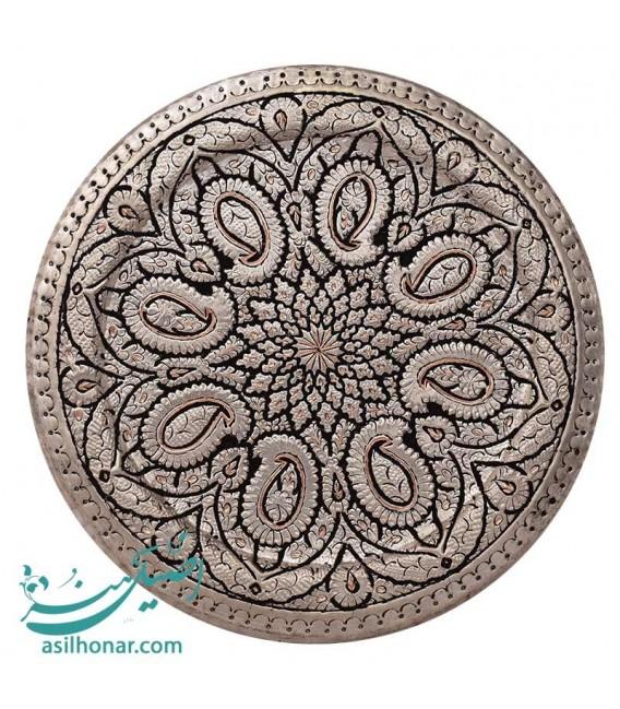 Isfahan ghalamzani copper tray