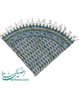 Ghalamkari round tablecloth 1 m boteh design