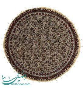 رومیزی قلمکار اصفهان گرد 1 متری پرکار