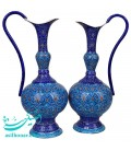 A pair of minakari pitcher containers 20 cm arabesque