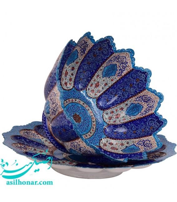 Minakari bowl and plate set