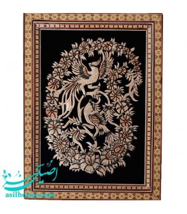 Ghalamzani frame flower and bird 21x30 cm