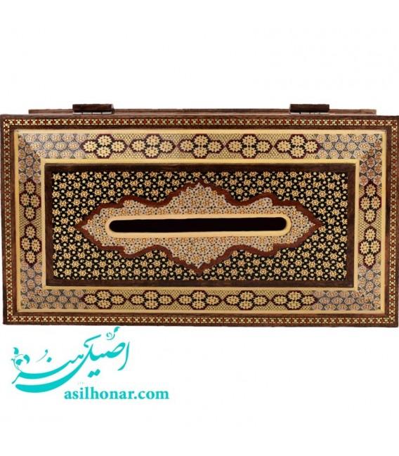 جعبه دستمال کاغذی خاتم اصفهان