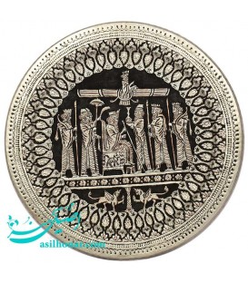 Ghalamzani wall hanging copper tray 50 cm perspolis