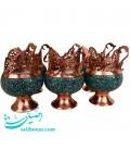 Turquoise inlaying tea set