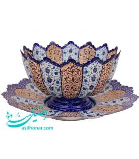 Minakari plate bowl arabesque khatai 30 cm