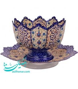 Minakari bowl plate 20 cm arabesque khatai