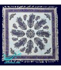 Ghalamkari squar tablecloth 80 cm paisley design