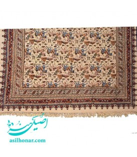 Ghalamkari traditional rectangle tablecloth hunting design