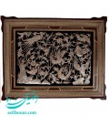 Khatamkari-ghalamzani frame 50x70 cm flower and bird