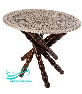Wooden table legs for ghalamzani copper tray