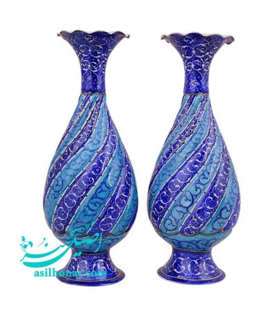 Isfahan minakari flower vase