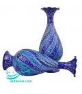 یک جفت گلدان مینا کاری اصفهان 20 سانتی طرح اسلیمی