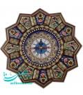 Khatamkari & minakari clock solar 32 cm