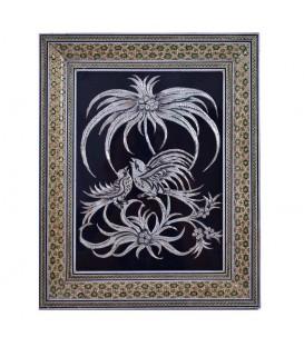 Ghalamzani frames with double flowers khatam